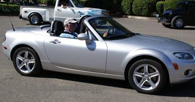 An image of a convertible at the Hair in the Wind event