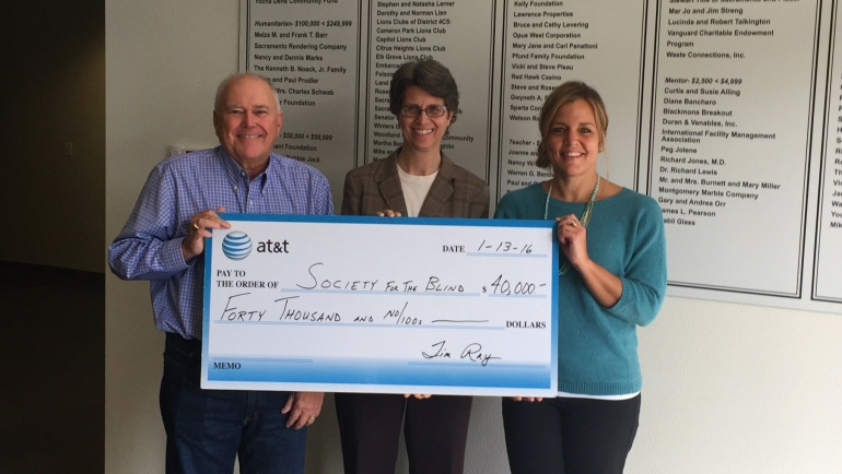 Society for the Blind Receives $40K from AT&T