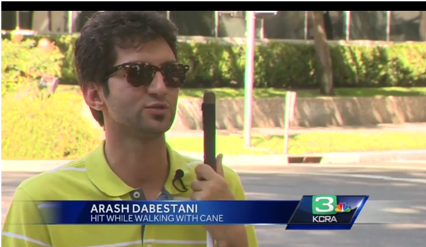 Society for the Blind Student on KCRA3 News