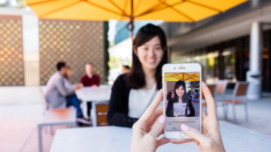 Microsoft's Seeing AI app in use on an iPhone