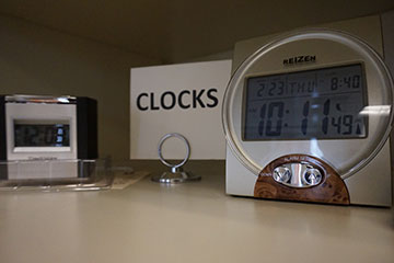 an image showing alarm clocks with large time displays