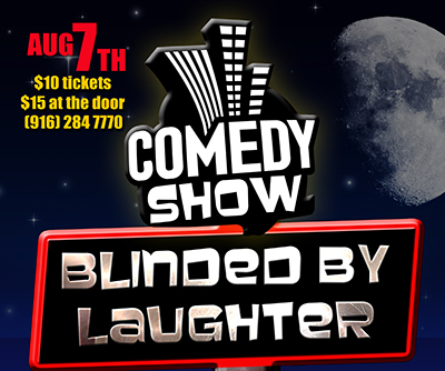Blinded by Laughter event flyer