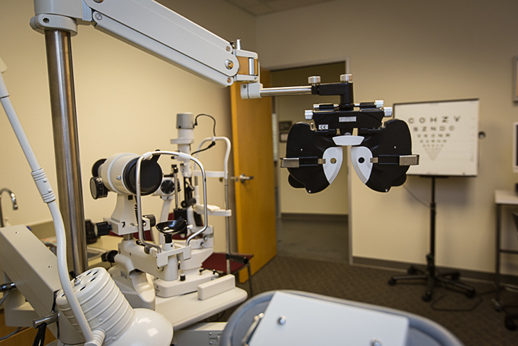 an image of the Low Vision Clinic exam room chair