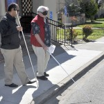 Senior Impact instructor with a client Society for the Blind