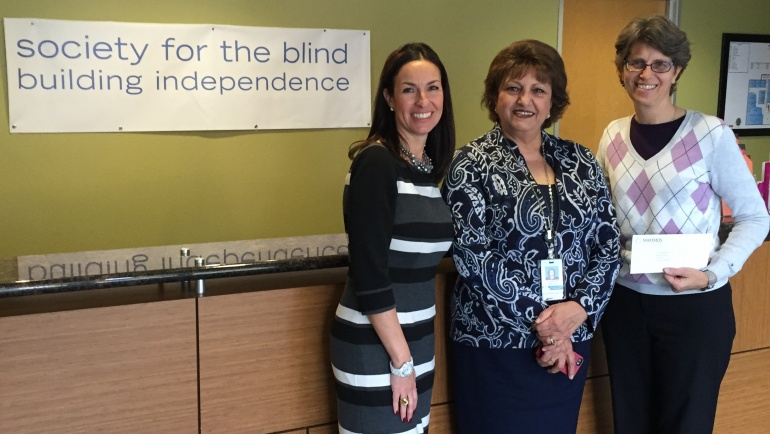 Society for the Blind receives $5,000 to Help Seniors Stay Independent