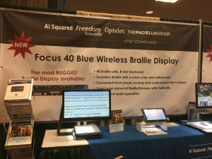 Focus 40 Blue Wireless Braille Display booth at the ACB Conference