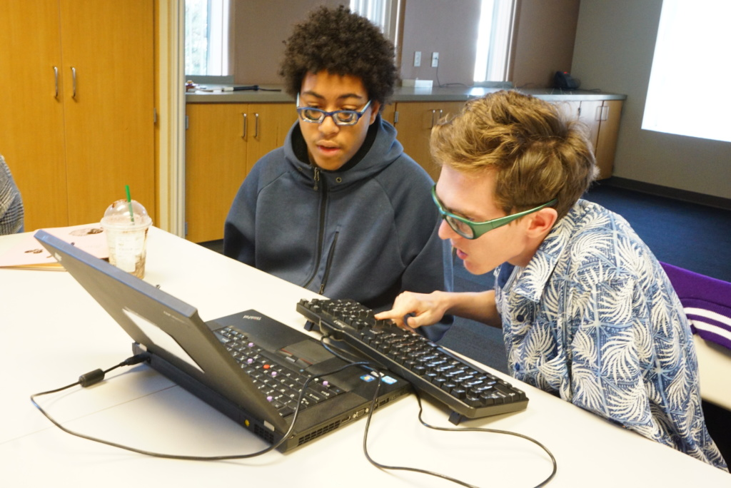 Students in Society for the Blind's CareersPLUS Youth program use accessible technology to communicate more effectively.