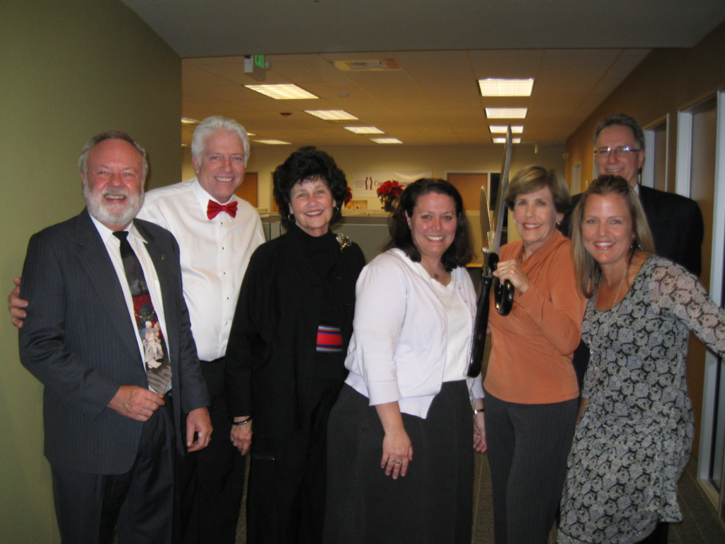 Doris with fellow board members at the dedication of our building in 2010.