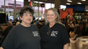 - Photo of bingo managers Linda Taylor and CJ Boggus