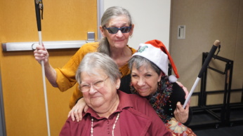 Image of Karon Altman, Debra Celiz, and Marge Tomczak at the Senior IMPACT Project Holiday Celebration