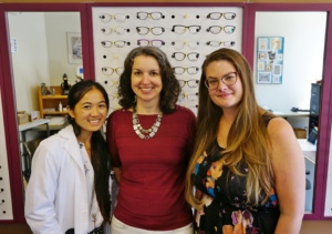 Staff of Society for the Blind from Left to Right in Descending order: Arie Wong, Toni Boom, and Chelsea Gray
