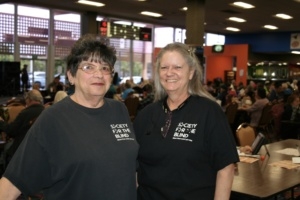 Staff of Society for the Blind from Left to Right in Descending order: Linda Taylor and CJ Boggus