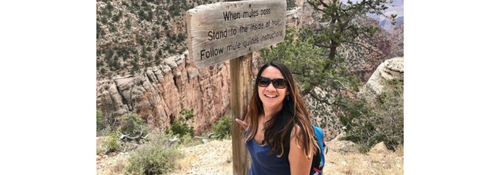 Ana Zambrano hiking at Grant Canyon