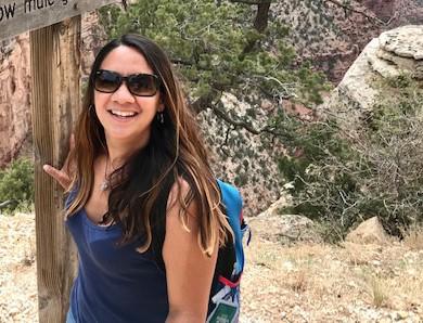 Photo of Ana Zambrano hiking at Grant Canyon
