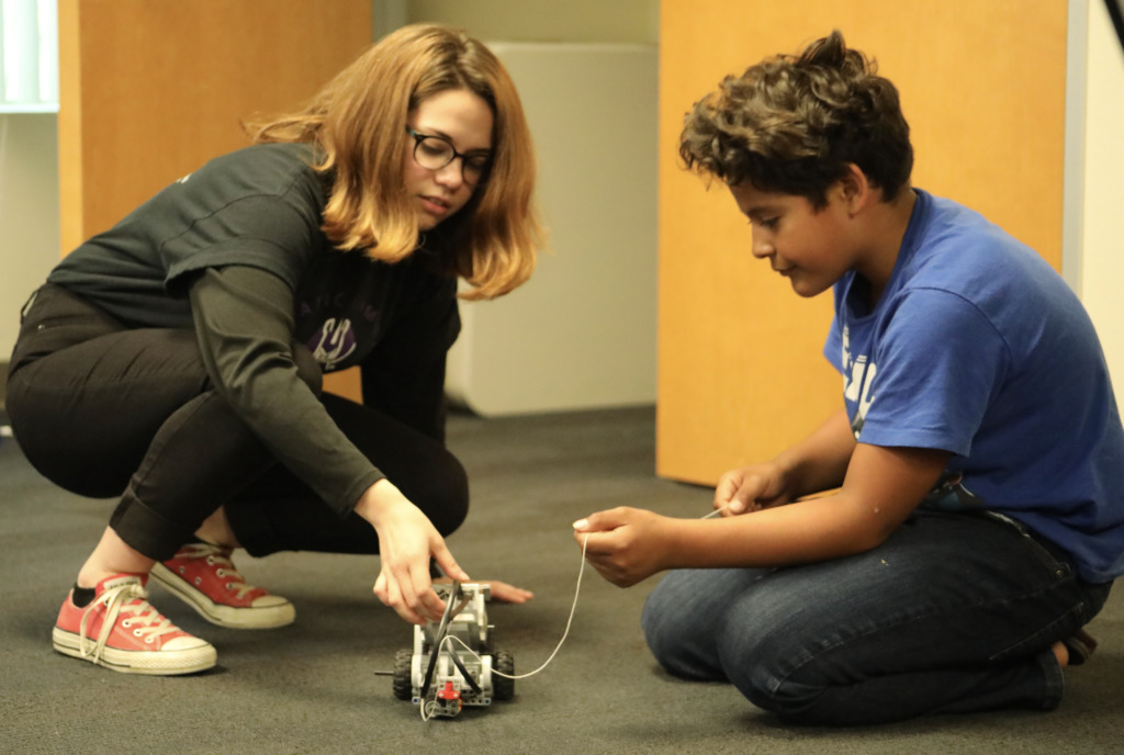 Youth attendees at our annual robotics workshop.