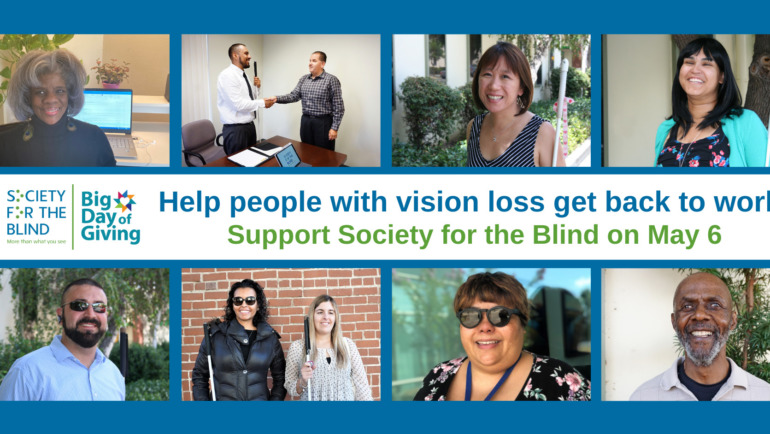Help people with vision loss get back to work!